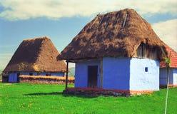 Casas Thatched fotografia de stock