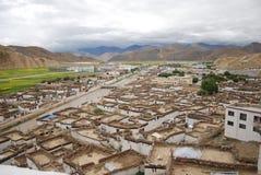 Casas tibetanas del estilo Fotografía de archivo