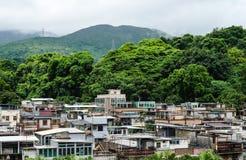 Casas tradicionais da vila em Hong Kong Fotografia de Stock