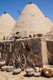 Casas tradicionais do tijolo da lama da colmeia Foto de Stock