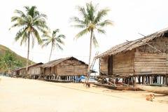 Casas tradicionais dos fishers imagens de stock