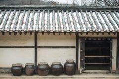 Casas tradicionais em Coreia foto de stock