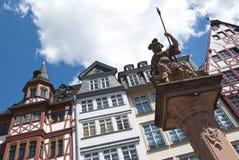 Casas tradicionais no Roemer, Francoforte foto de stock royalty free