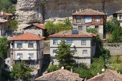 Casas tradicionales del otomano Foto de archivo