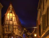 Casas tradicionales en Colmar Imagenes de archivo