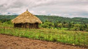 Casas tradicionales en Etiopía, África Fotos de archivo