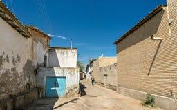Casas tradicionales en la ciudad vieja de Bukhara, Uzbekistán imagen de archivo libre de regalías