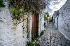 Casas tradicionales y edificios viejos en el pueblo de Archanes, Heraklion, Creta fotos de archivo libres de regalías