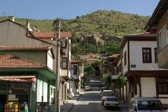 Casas turcas de madeira denominadas velhas na rua Fotografia de Stock Royalty Free
