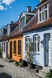 Casas urbanas danesas - Aarhus Foto de archivo libre de regalías