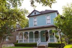 Casas urbanas de Houston Heights Blvd en Tejas los E.E.U.U. Fotografía de archivo libre de regalías