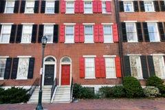 Casas urbanas de Philadelphia Imagen de archivo libre de regalías