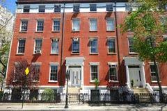 Casas urbanas del Greenwich Village Fotos de archivo libres de regalías