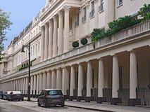 Casas urbanas elegantes de Londres imagen de archivo libre de regalías