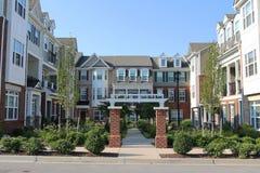 Casas urbanas en los suburbios de Richmond Imagen de archivo libre de regalías