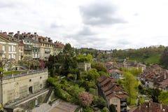 Casas Urbanas Terrazas Y Jardines Verdes En Berna