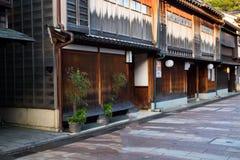 Casas velhas da gueixa em Kanazawa, Japão Fotografia de Stock