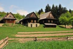 Casas velhas da vila fotos de stock royalty free