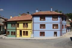 Casas velhas de Eskisehir foto de stock