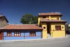 Casas velhas de Eskisehir fotografia de stock royalty free