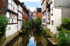 Casas velhas do fachwerk em Wolfenbuttel. Imagem de Stock Royalty Free