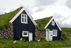 Casas velhas do fazendeiro Imagem de Stock Royalty Free