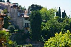 Casas velhas em Asolo, Itália foto de stock