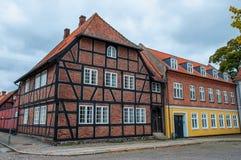 Casas velhas em Dinamarca Fotos de Stock Royalty Free