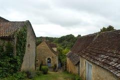 Casas velhas em Limeuil fotos de stock