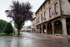 Casas velhas em Mirepoix France imagem de stock royalty free