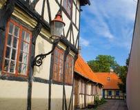 Casas velhas em Nakskov imagens de stock royalty free