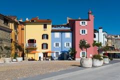 Casas velhas em Piran fotografia de stock