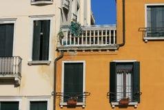 Casas velhas em Veneza Fotos de Stock Royalty Free