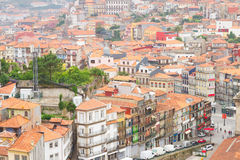 Casas velhas na parte histórica da cidade, Porto Imagem de Stock
