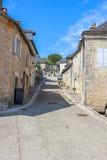 Casas velhas, Nespouls, Correze, Limousin, França Fotografia de Stock