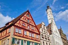 Casas velhas em Rothenburg foto de stock royalty free