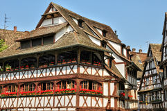 Casas velhas no distrito do La Petite France em Strasbourg Fotografia de Stock