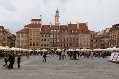 Casas velhas, Varsóvia Imagens de Stock Royalty Free