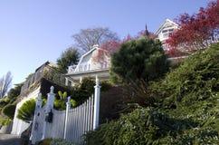 Casas verdes Imagem de Stock Royalty Free