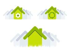 Casas verdes Fotografia de Stock