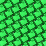 casas verdes 3d Foto de archivo libre de regalías