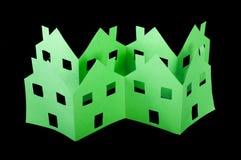 Casas verdes da ecologia Fotografia de Stock Royalty Free