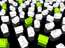 Casas verdes do âecologicalâ Foto de Stock Royalty Free