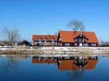 Casas vermelhas Foto de Stock Royalty Free