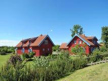 Casas vermelhas Imagem de Stock Royalty Free