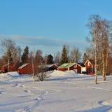 Casas vermelhas Fotos de Stock Royalty Free