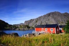 Casas vermelhas escondidas Fotografia de Stock Royalty Free