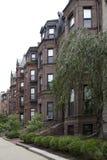 Casas vermelhas na massa de Boston da cidade Imagem de Stock