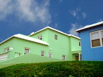 Casas vibrantes   Imagen de archivo libre de regalías
