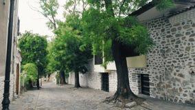 Casas viejas auténticas en Plovdiv, Bulgaria Capital europea de la cultura 2019 almacen de video